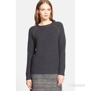 Tory Burch Trudy Chain Detail Sweater